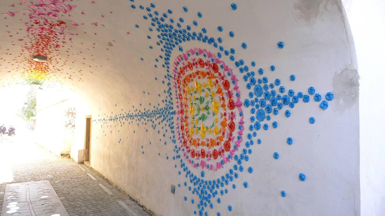 Origami wall-- White Night (Slovakia)   Mademoiselle ...