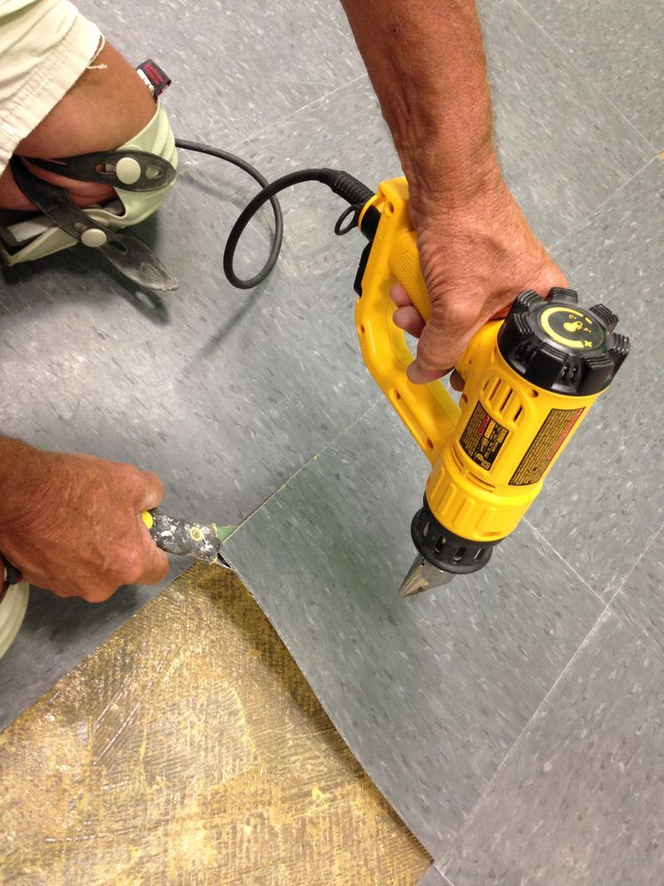 How to Remove Vinyl Flooring Vinyl flooring, Removing