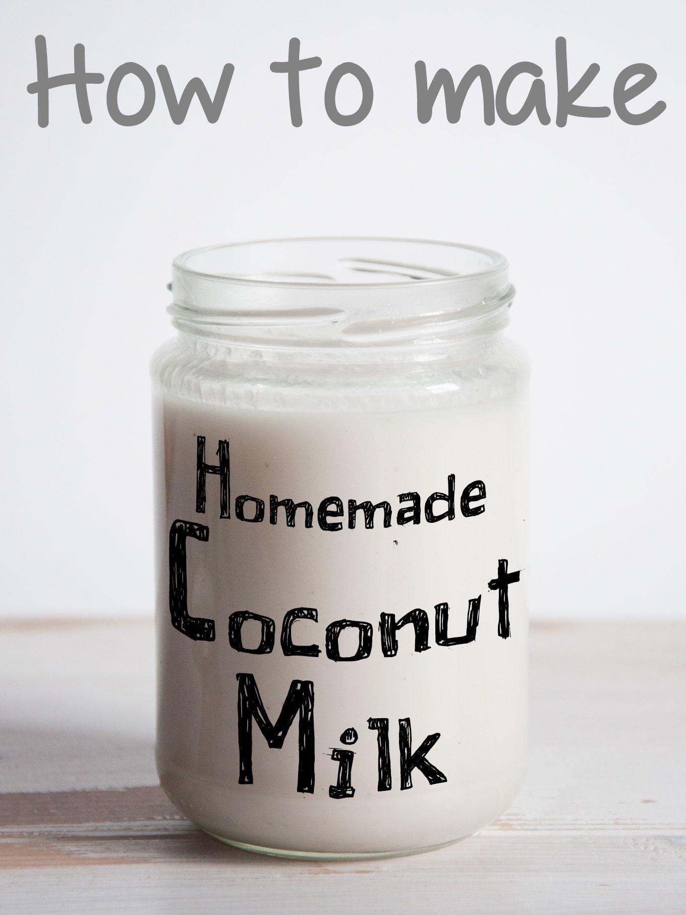 Homemade Coconut Milk | ElephantasticVegan.com