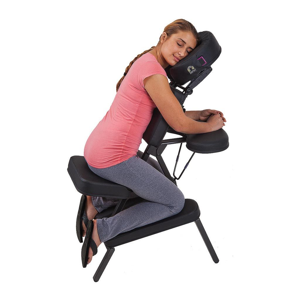 Earthlite Zenvi™ Portable Massage Sound Chair - Black  he Zenvi™ Sound Chair combines the soothing effects of crystal-clear, high-fidelity sound vibrations with superior quality, comfort, and portability by connecting to iPods, Iphones, and other portable MP3 devices.