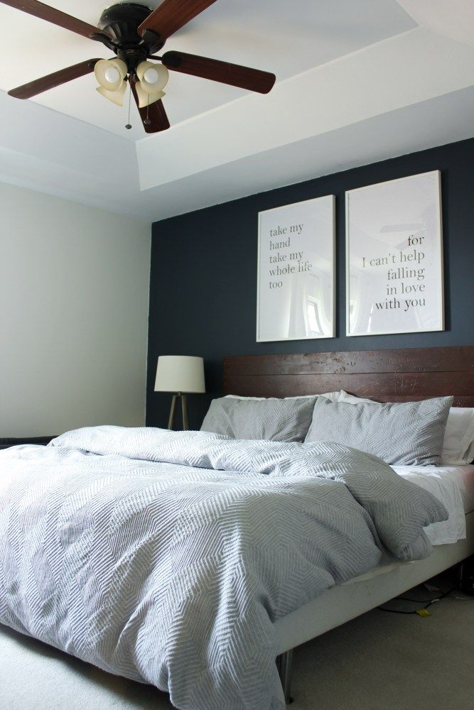 our navy white and grey master bedroom refresh  gray