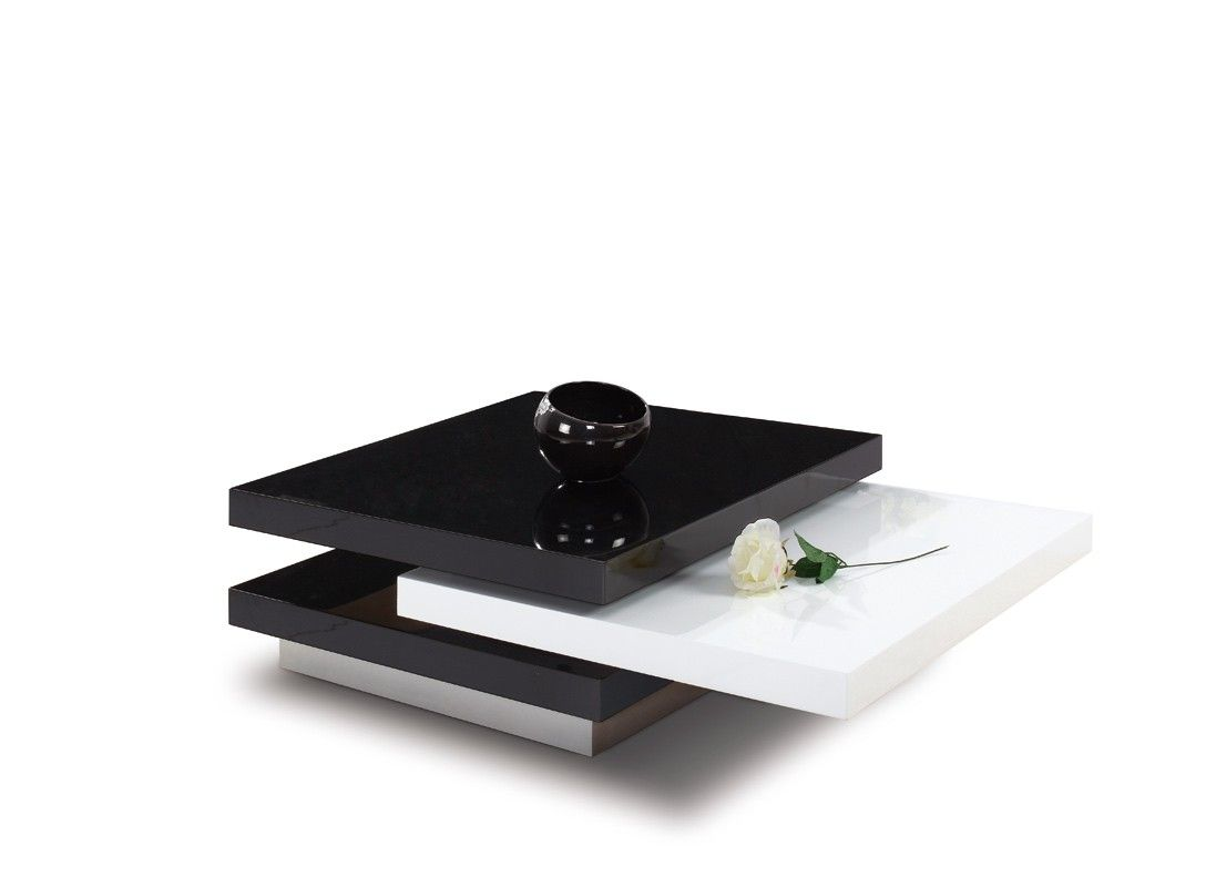 Modrest 4g038b Modern Black And White Coffee Table Black And White Coffee Coffee Table White Coffee Table [ 800 x 1097 Pixel ]