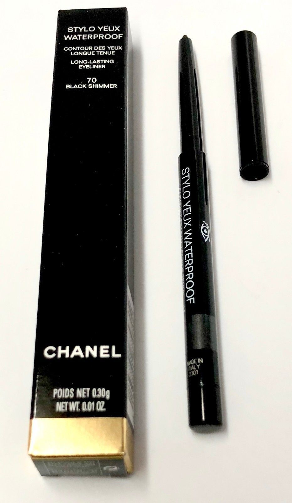 Eyeliner 31787  Chanel Stylo Waterproof Long-Lasting Eyeliner 70 Black  Shimmer 0.01Oz. 0.30G. -  BUY IT NOW ONLY   31 on eBay! 18c25a2210