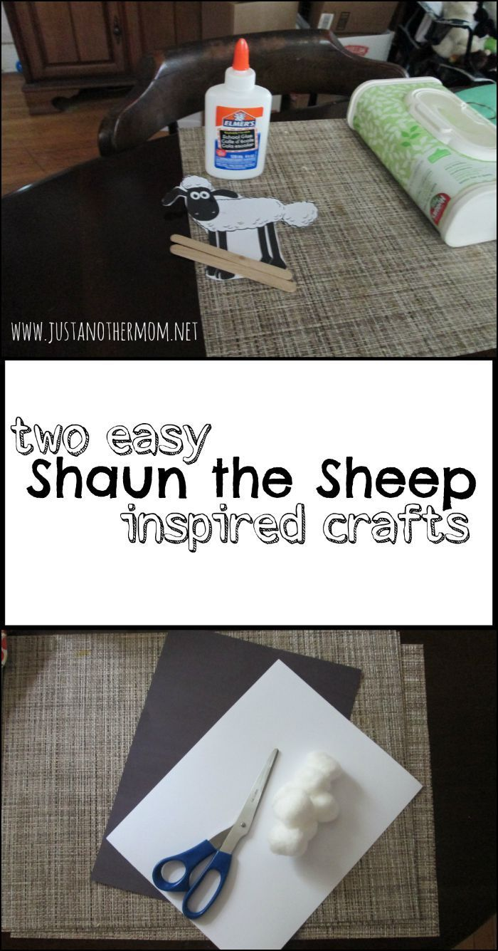These two easy Shaun the Sheep inspired crafts are perfect ...