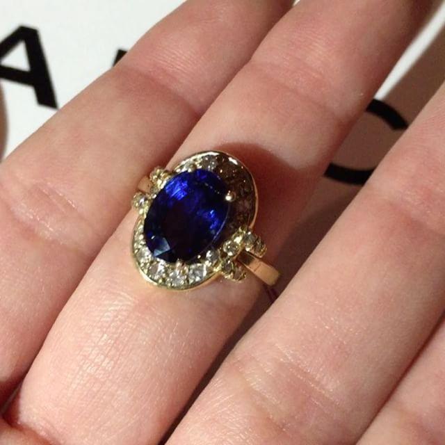 "CALICHA on Instagram ""Christmas Sale Blue Sapphire and Diamonds"