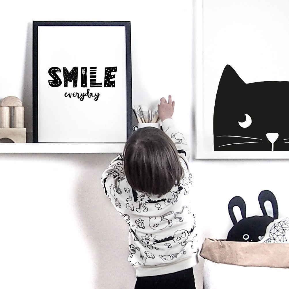 Children S Monochrome Nursery Prints Available At Little