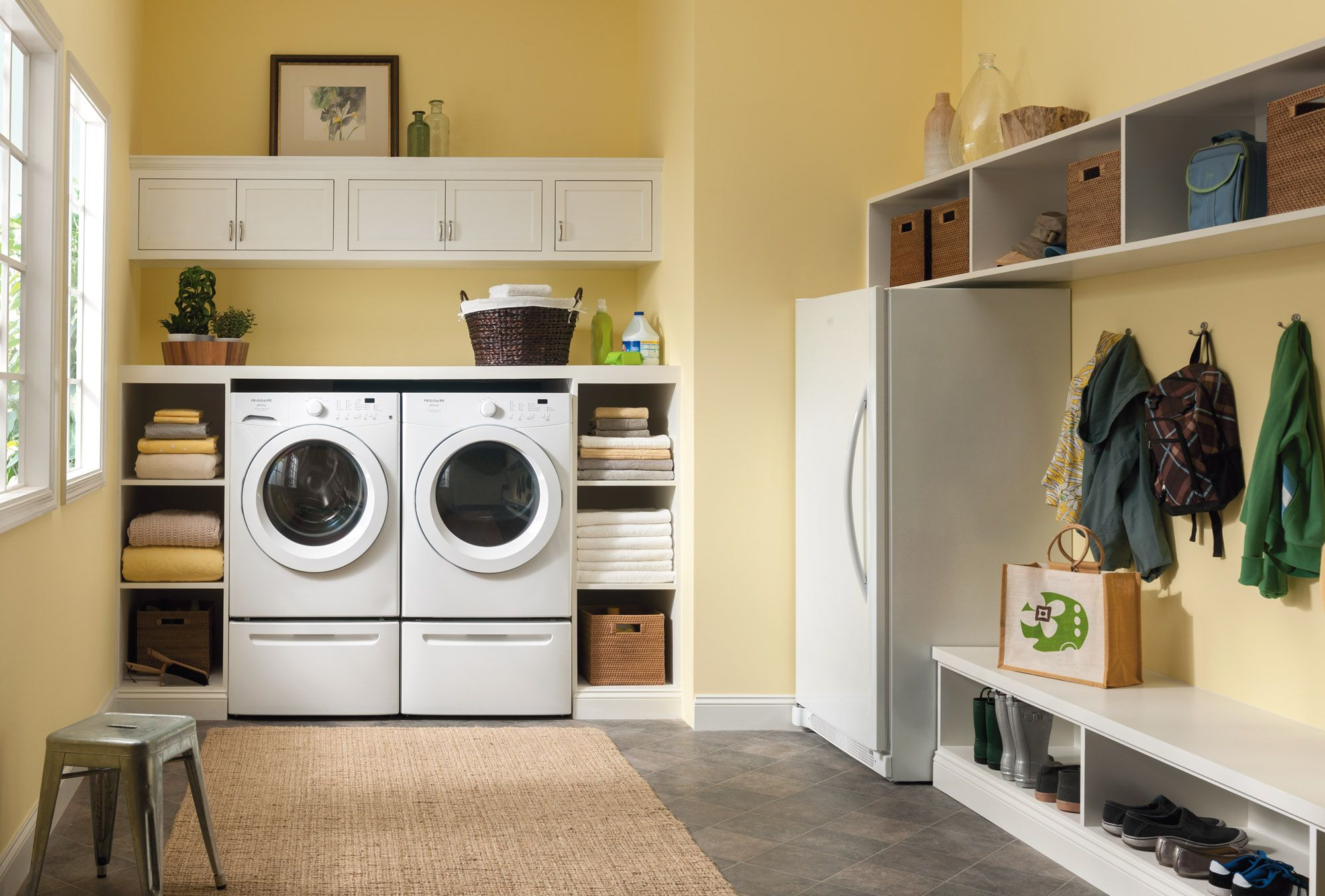 Frigidaire 17 0 Cu Ft 2 In 1 Upright Freezer Or Refrigerator Perfect Laundry Room Rustic Laundry Rooms Laundry Mud Room