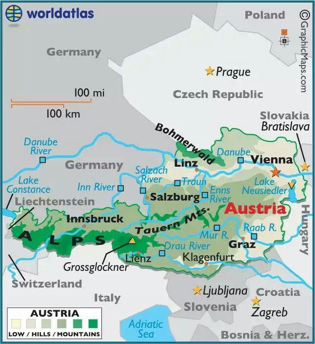 Pin By Balasingam Velu On Austria Austria Map Austria Austria Travel