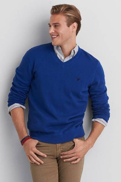 AEO V-Neck Mountain Pass Sweater by AEO | A v-neck with athletic ...