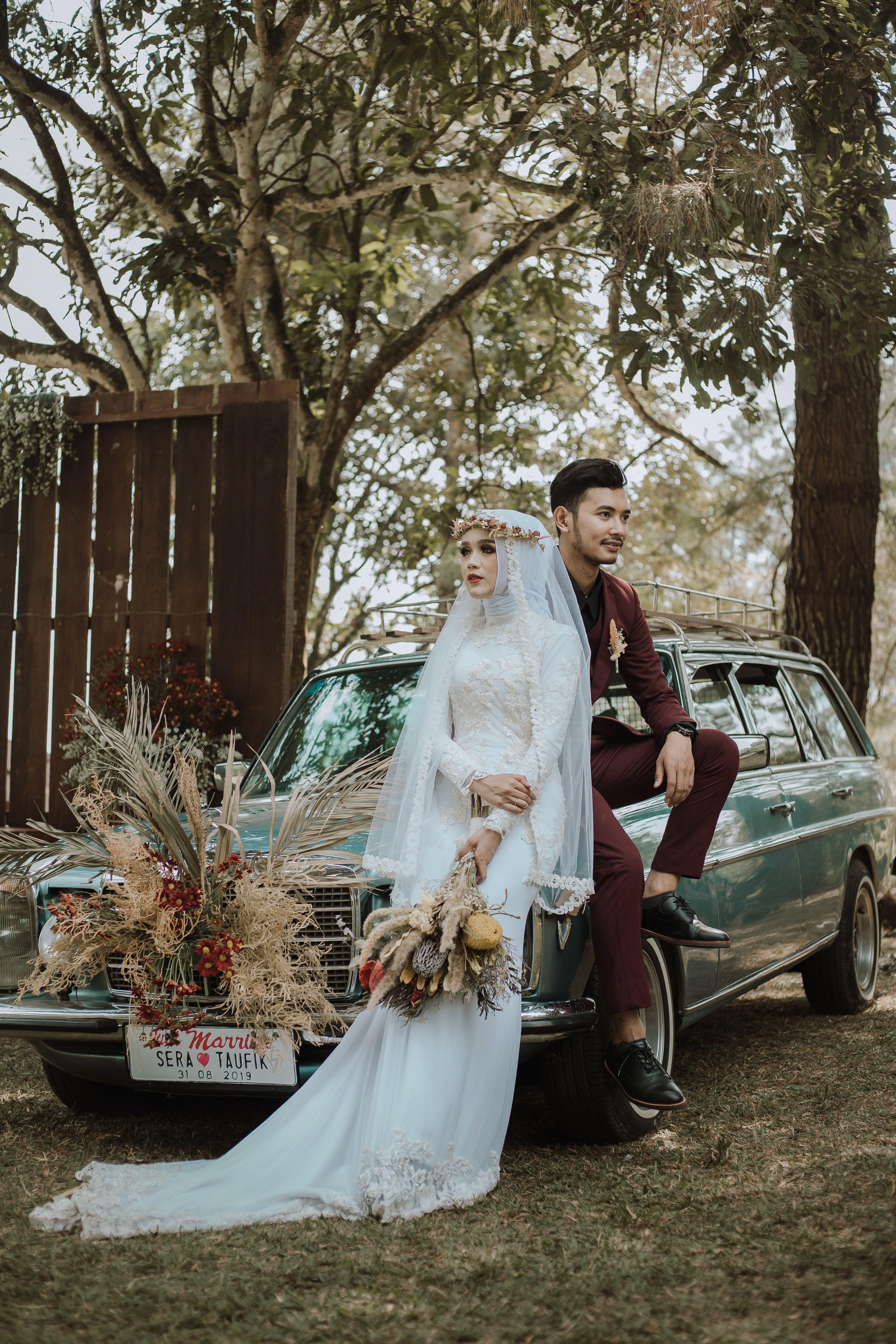 Bohemian Wedding Style Foto Perkawinan Pengantin Muslim Gaya Pengantin