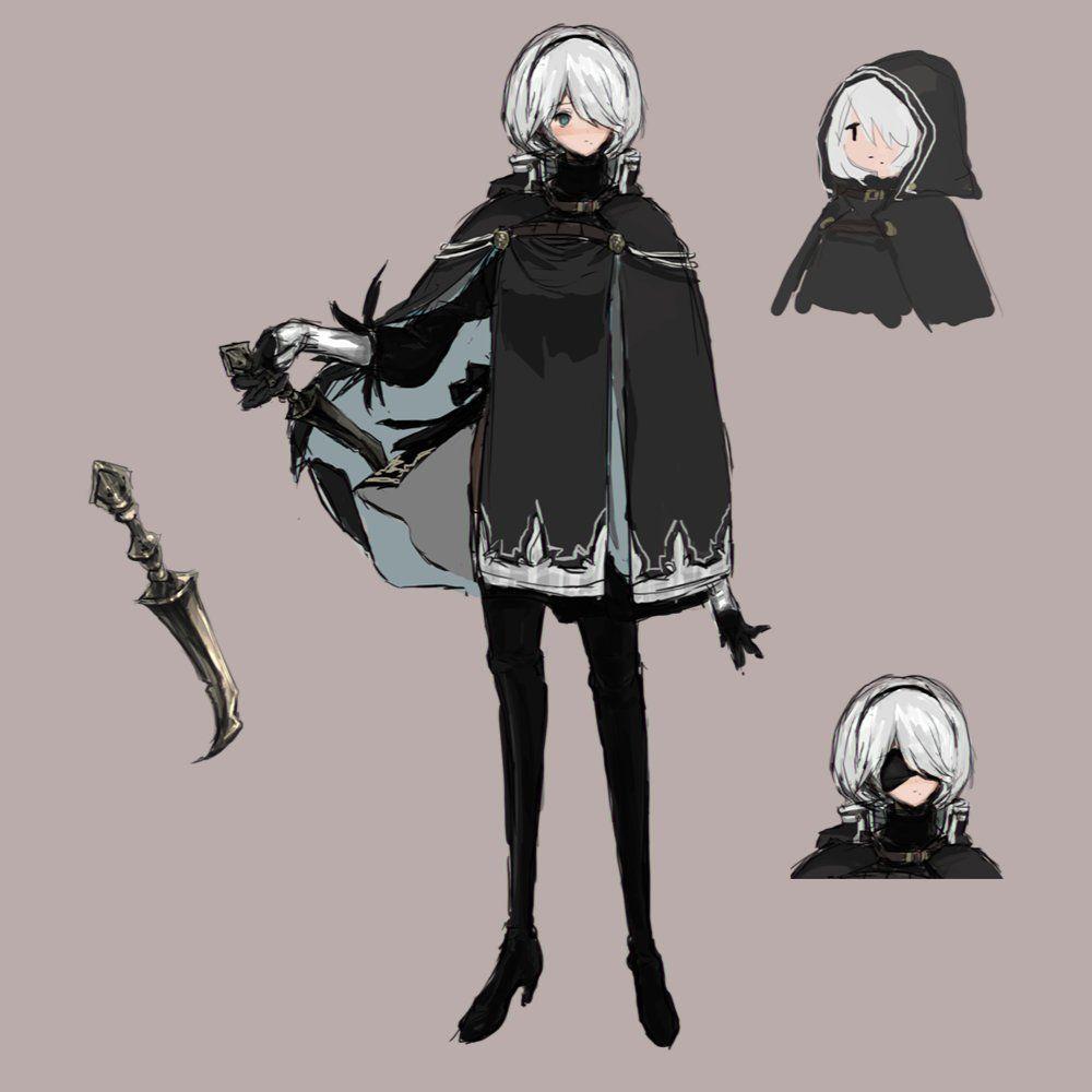 Character Design Nier Automata : Dctrwt voaavf d g b s pinterest nier