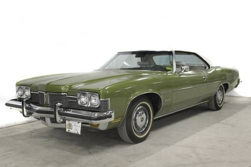 This 1973 Catalina 2 Door Hardtop In Code 46 Golden Olive Poly W What Looks Like White Vinyl Top Interior Cool Car Pictures Pontiac Catalina Station Wagon
