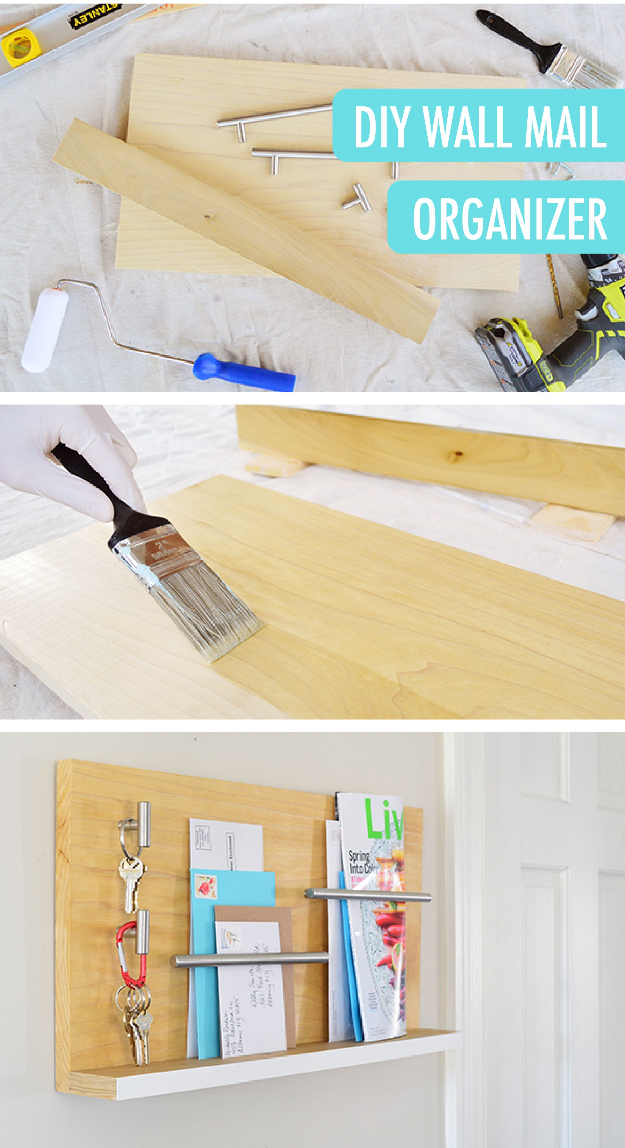 Stylish Wall Mail Organizer For Your Entryway