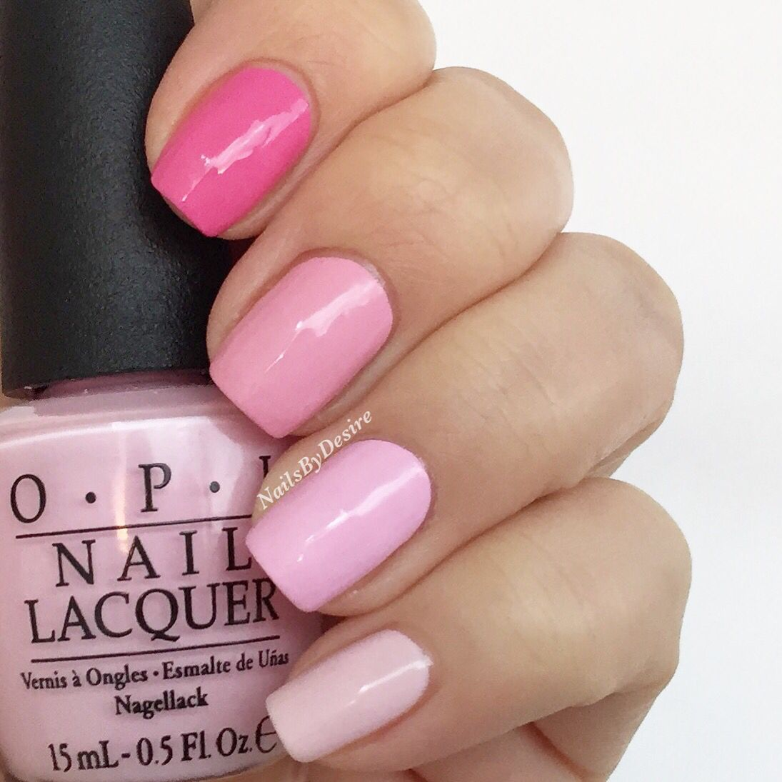 Pink Ombre with Opi (left hand)