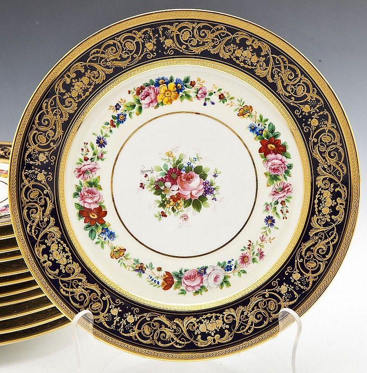 12 Charles Ahrenfeldt for Limoges Dinner Plates