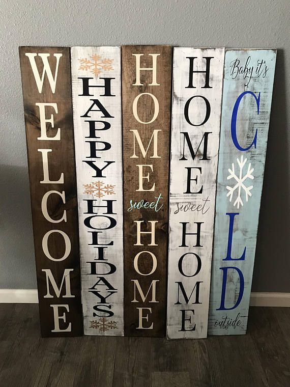 Reversible Winter Sign Reversible Holiday Sign