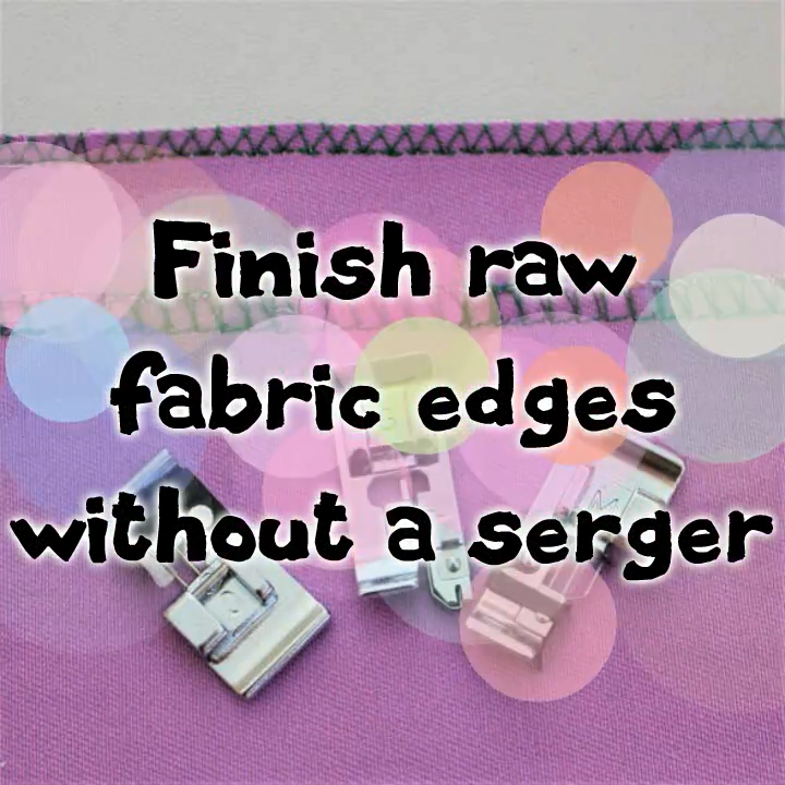 Photo of Finish raw fabric edges without a serger