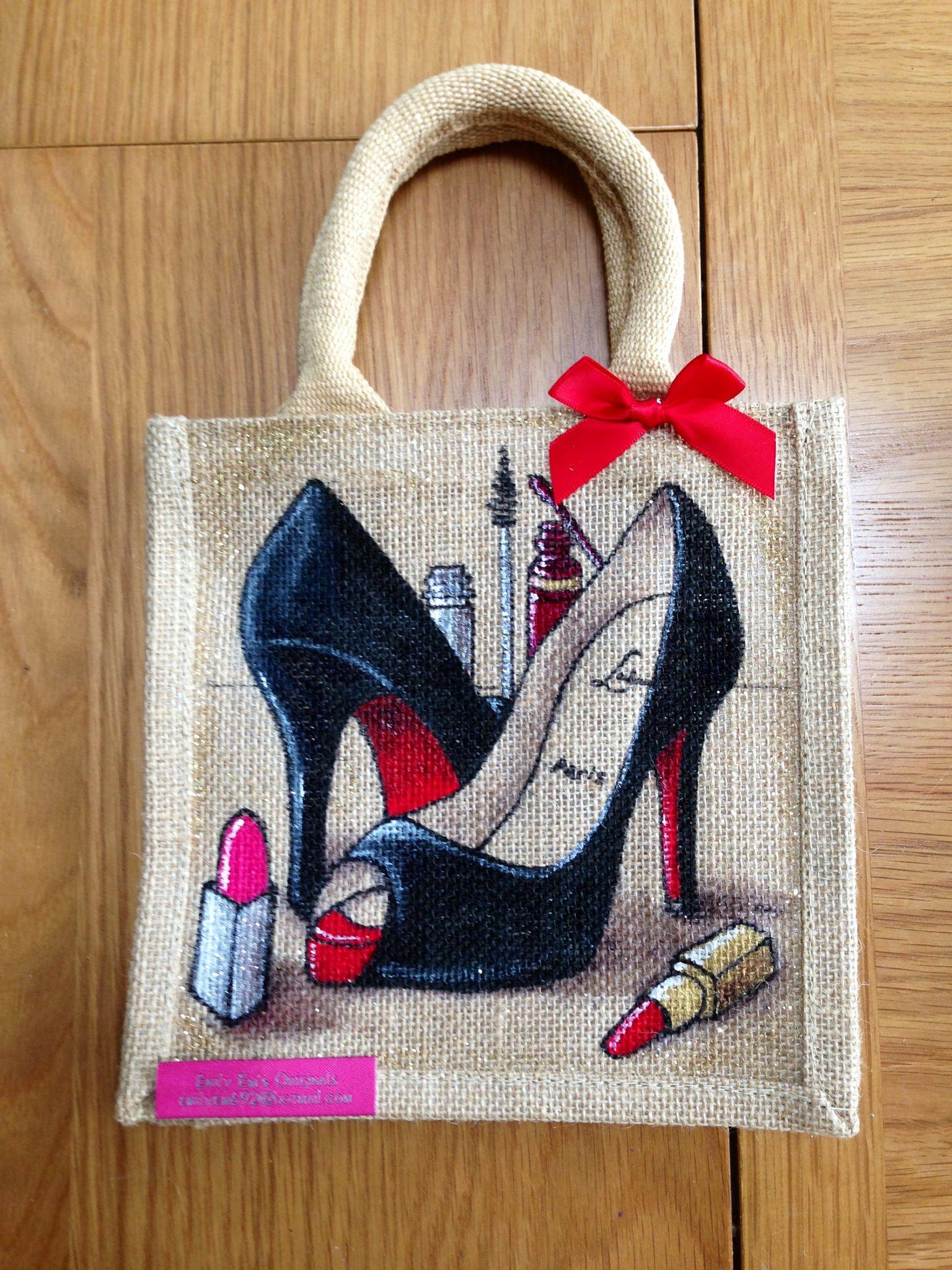 Emily em original bag designs love them need them for Burlap bag craft ideas