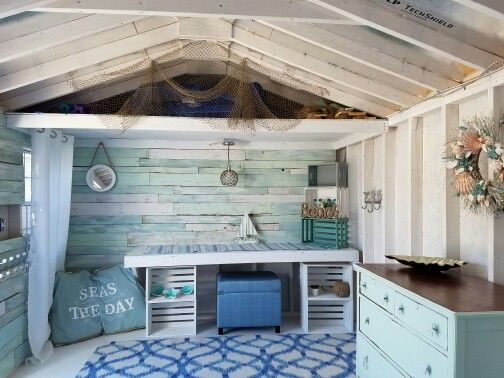 Nautical Rustic She-Shed | she-shed • craft room | Pinterest | Tiny ...