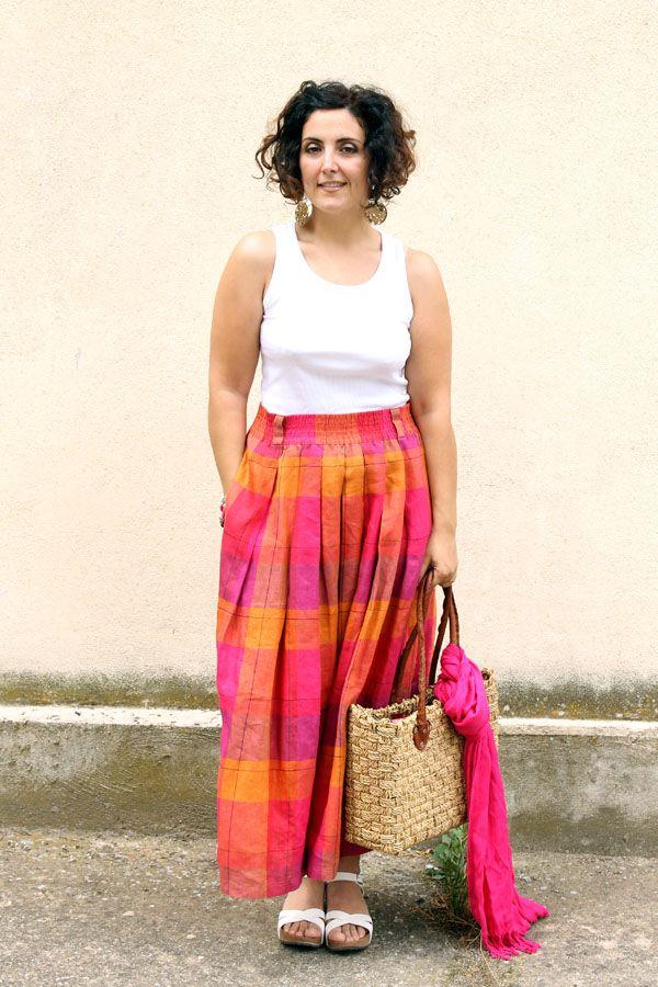in vendita d0119 1f4d3 urvy, plus size, maxi skirt, long skirt, gonna lunga ...