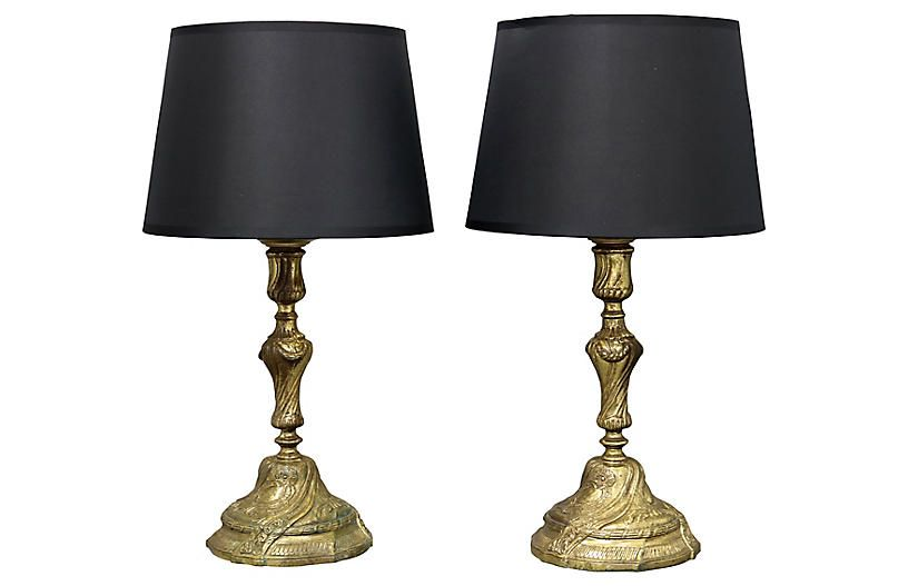 Antique English Brass Lamps Pair Brass Lamp Lamp Sets Brass