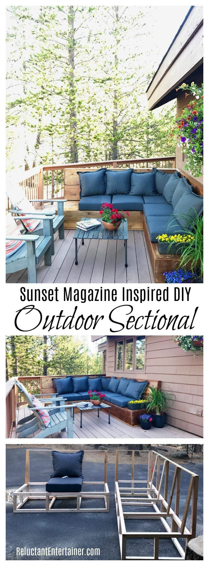 Sunset Magazine Inspired DIY Outdoor Sectional Home in