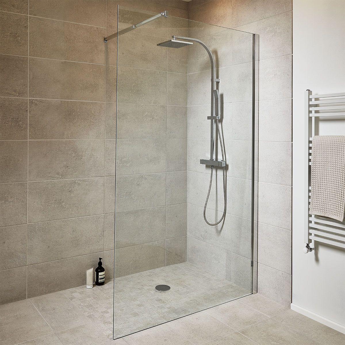 paroi pour douche verre goodhome en 2020 douche italienne douche et douche rectangulaire