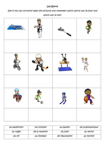 Je Joue / Je Fais + Sport - WORKSHEET | Teaching, Teaching ...