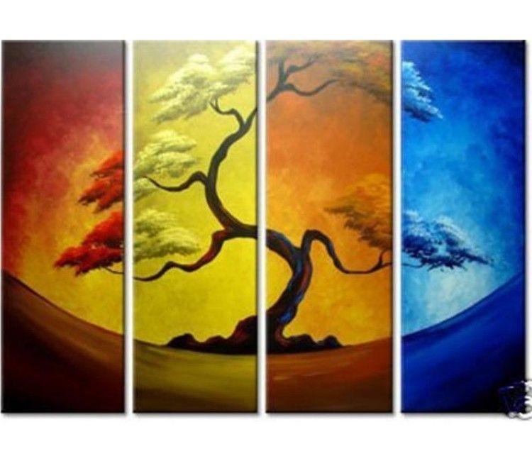 4+season+tree+art   Season Tree Art Four seasons tree 4 piece   Art ...