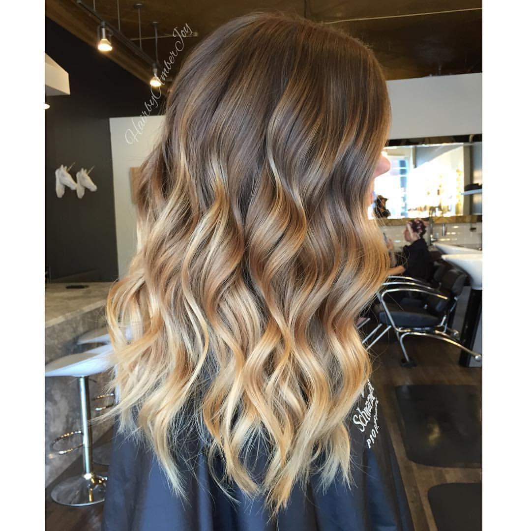 Amber Joy Rogan On Instagram Honey Blonde Colormelt Balyaj Kolay Sac Modelleri Sac Renkleri