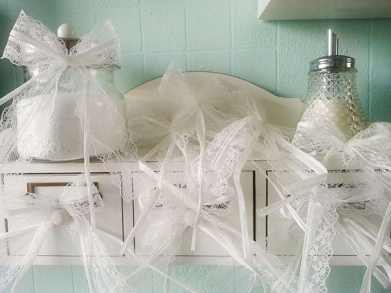 Hochzeitsdeko - 30 Antennenschleifen im romantischen Vintage-Stil - ein Designerstück von Verliebt-in-das-Leben bei DaWanda