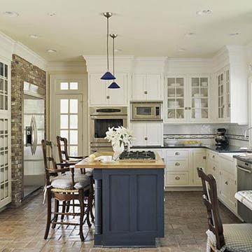 country kitchen ideas renovierung k che k che k che mit insel und k cheninsel mit herd. Black Bedroom Furniture Sets. Home Design Ideas