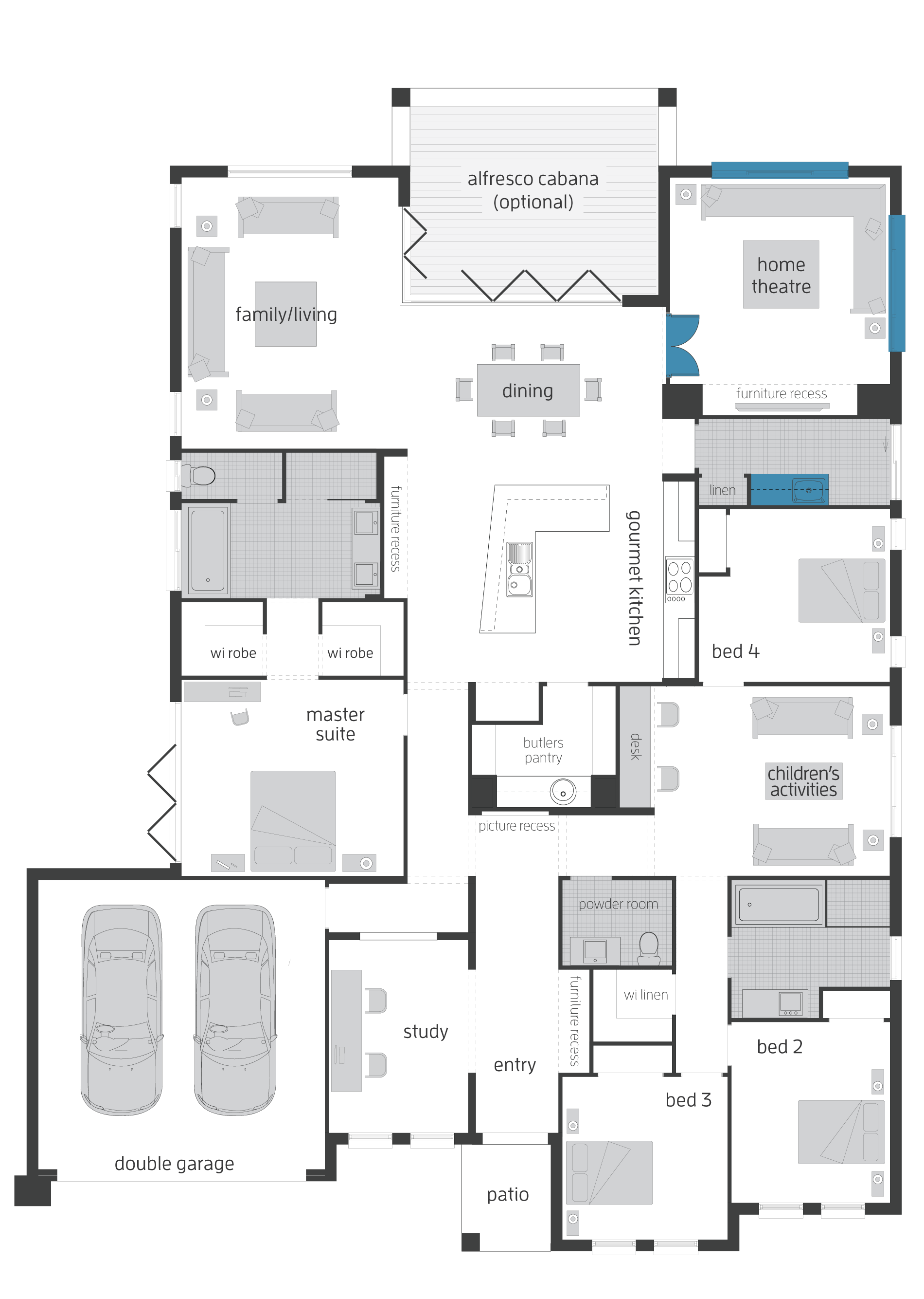 seaside retreat upgrades floor plan make the study a storage