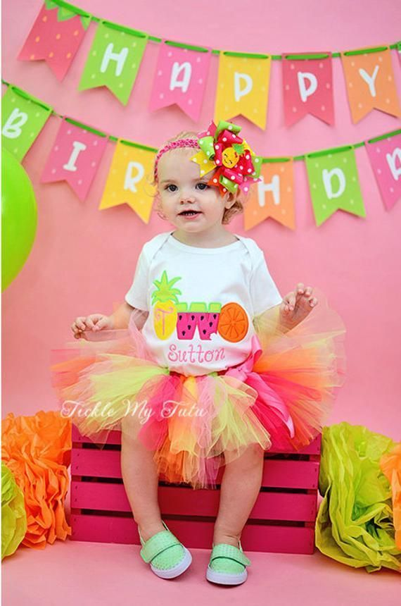 TWOtti Frutti Birthday Outfit-Tutti Frutti Birthday Outfit-Girls Tutti Fruity Birthday Outfit-Pineapple Birthday Outfit *Bow NOT Included* #birthdayoutfit