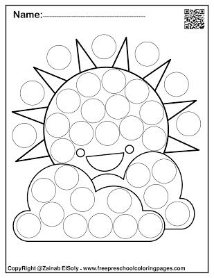 Set of Spring Dot Marker Free coloring pages in 2020 ...