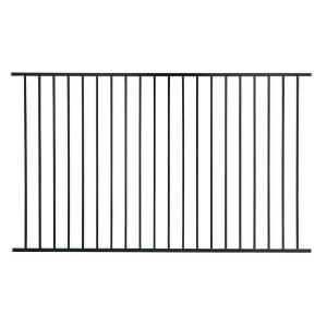 First Alert 58 In X 93 In Black Steel Standard Grade Fence Panel 16 Pack F2ghds93x5816pk At The Home Depo Metal Fence Panels Steel Fence Panels Metal Fence
