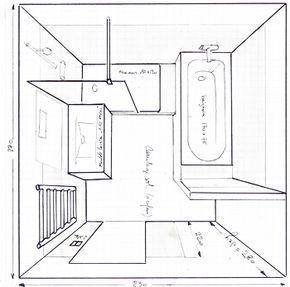 Salle De Bain De 6m2 Baignoire Douche Wc Recherche Google Plan