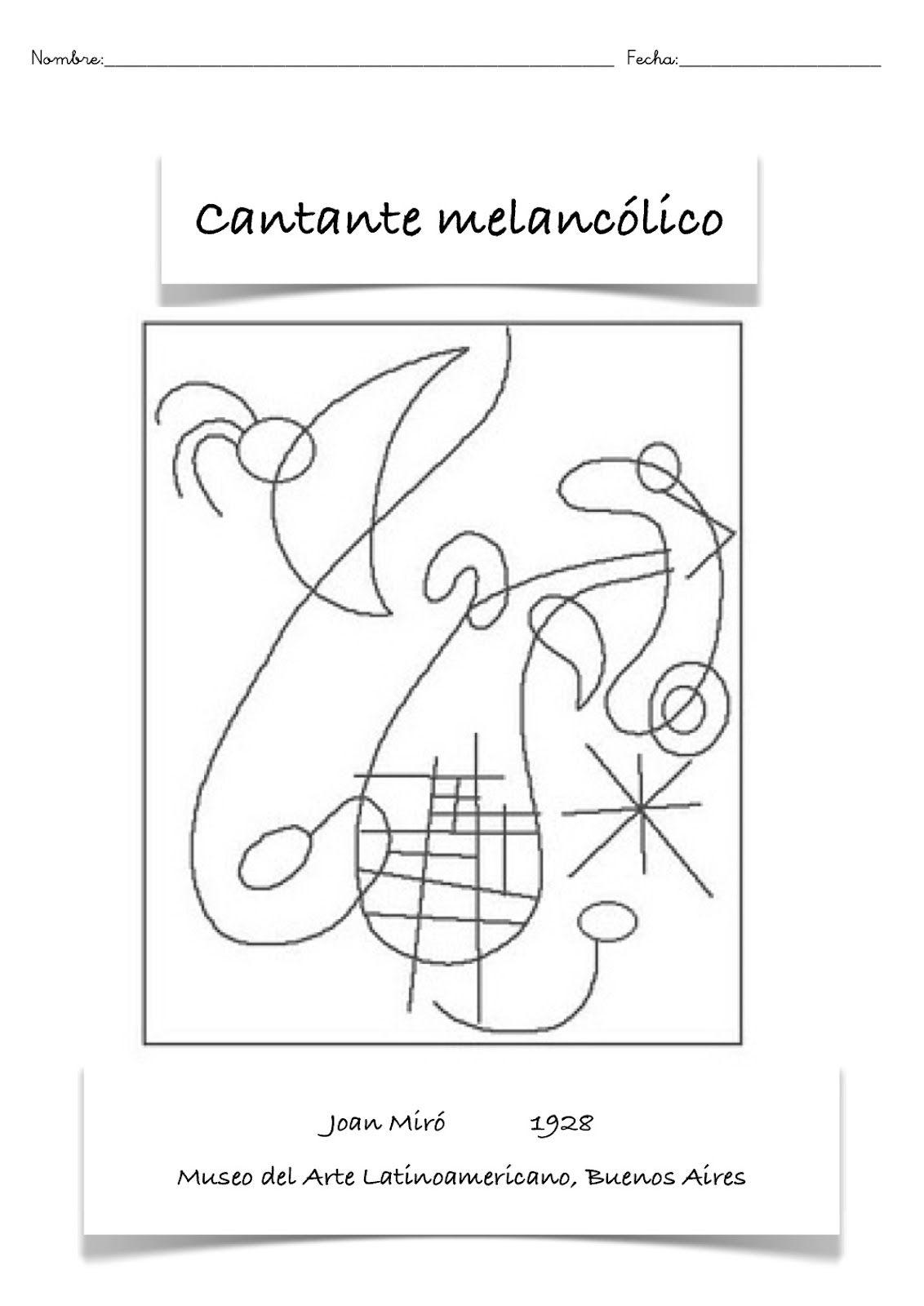 Pin By Silvia Calvo On Espanol Joan Miro Paintings Miro Paintings Miro Artist