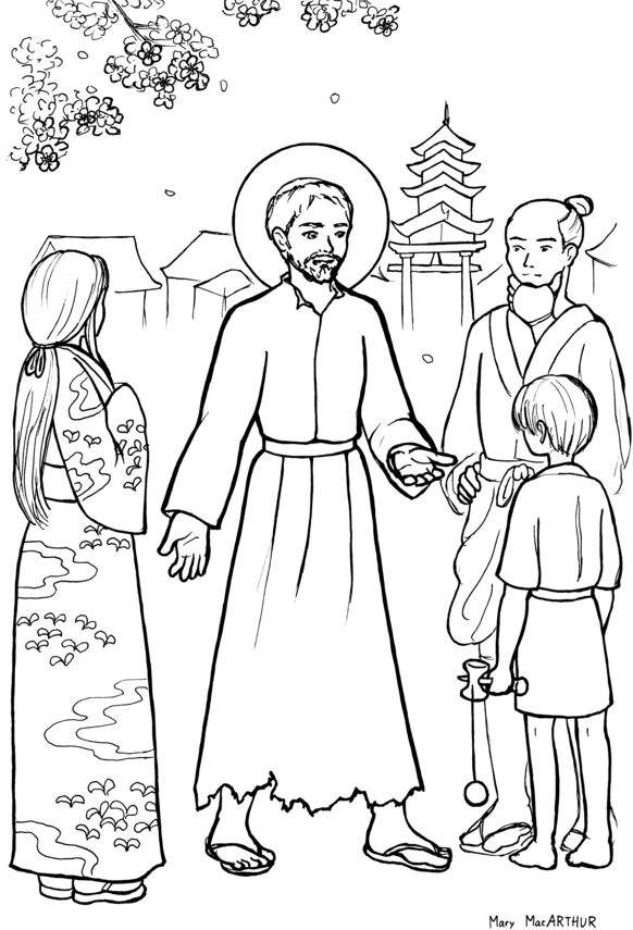 St francis xavier catholic coloring page feast day is for St francis coloring page