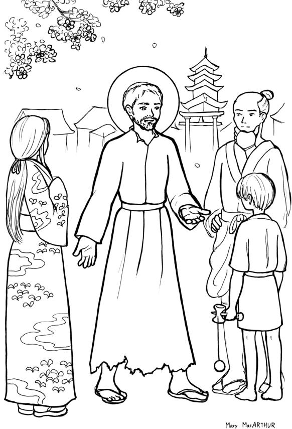 St. Francis Xavier coloring page | svatí | Pinterest | Catecismo a ...