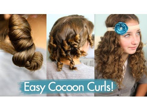 Cocoon Curls Easy No Heat Curls Cute Girls Hairstyles Youtube