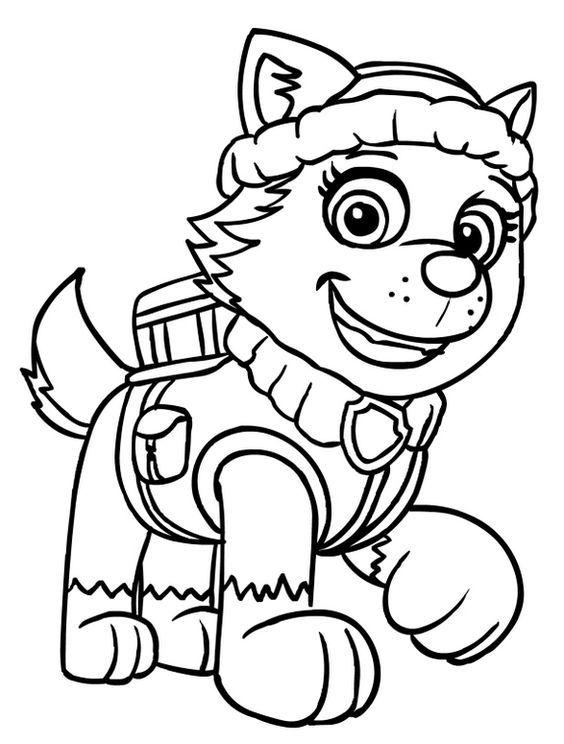Paw Patrol Party Paw Patrol Weihnachten Malvorlage Prinzessin Paw Patrol Everest