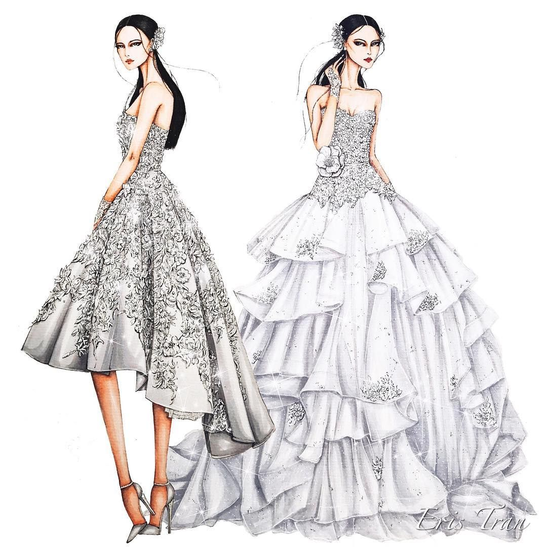Bridal for my client sketching draw dress drawing bridal