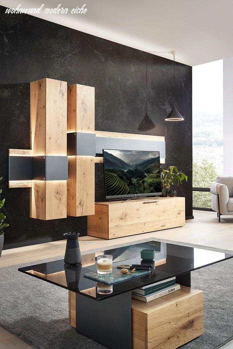 Der Neueste Trend In Wohnwand Modern Eiche In 2020 Wohnzimmer Modern Einrichtungsideen Wohnzimmer Rustikal Haus Deko