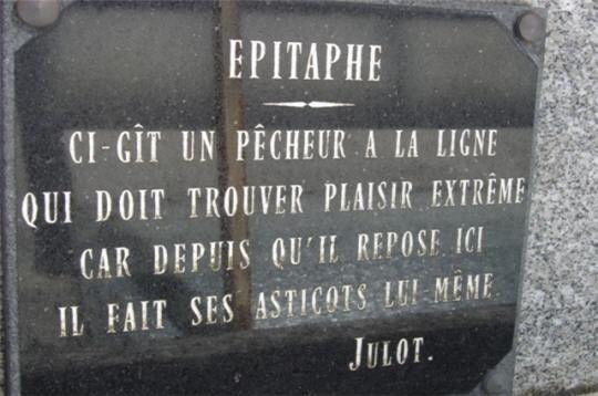panneaux insolites - Page 10 | Épitaphe, Pierre tombale, Pecheur