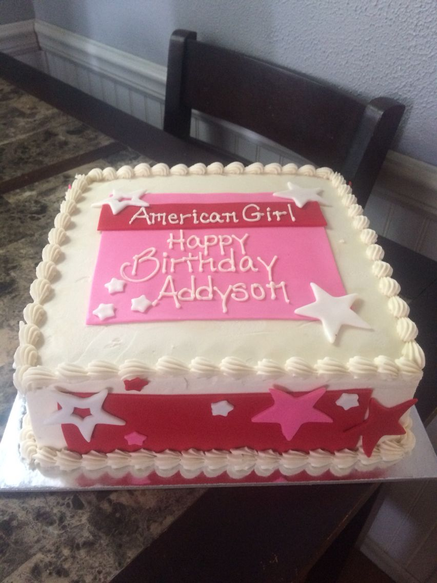 American Girl Cake With Images American Girl Birthday