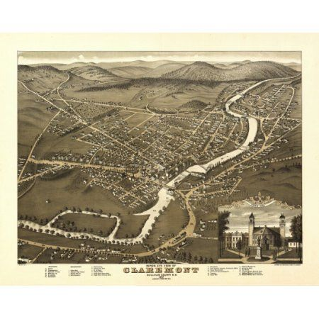 16x24 Butte City Montana 1884 Historic Panoramic Town Map
