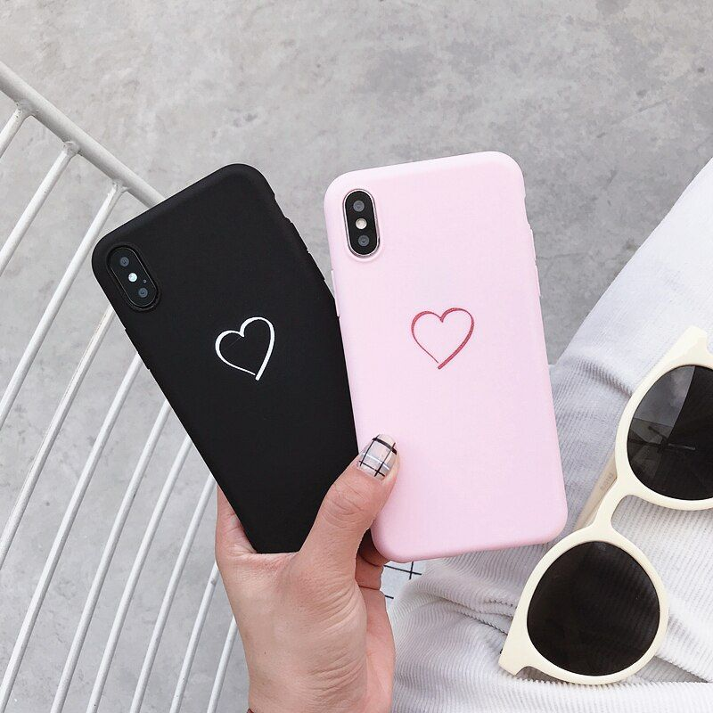 Good Offer Of For Huawei P8 P9 P10 P20 Lite Plus P30 Pro 2017 P Smart 2019 Z Cute Love Heart Case For Huawei Mate 10 20 30 In 2020 Cute Love Heart Case Silicone Cover