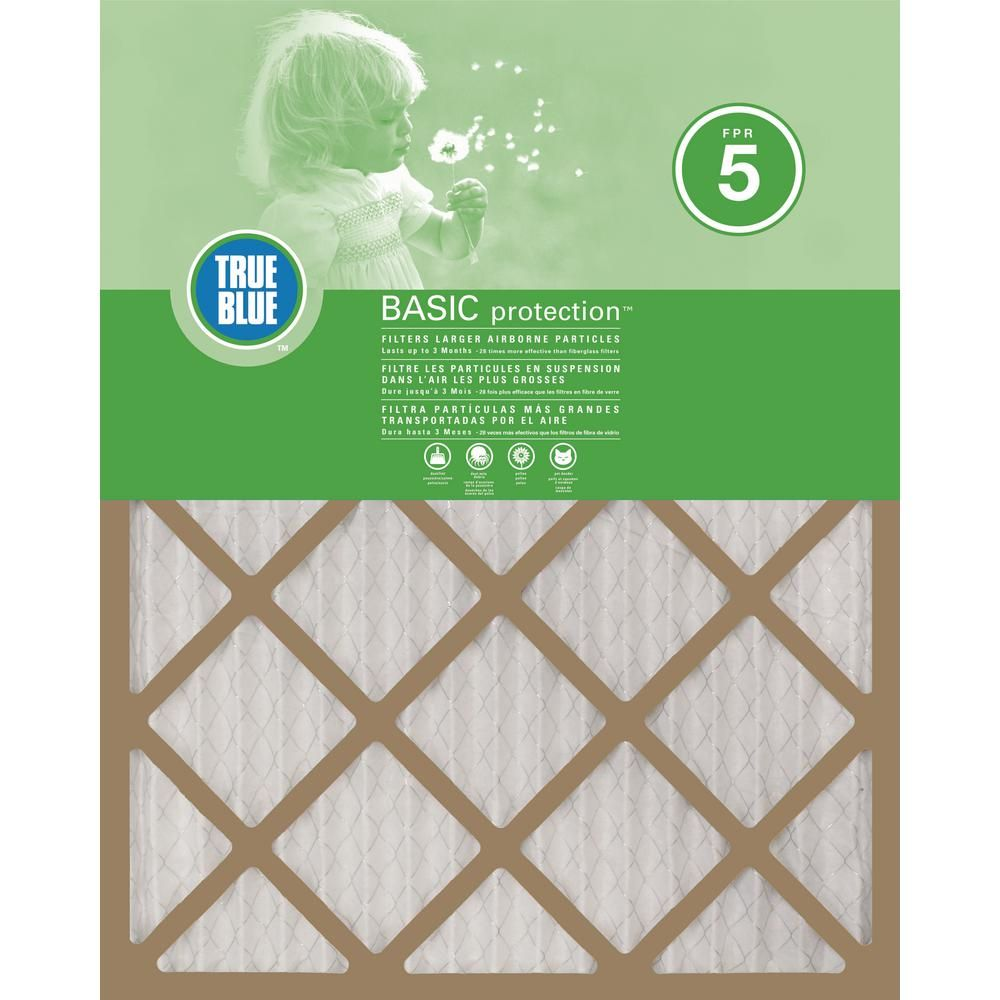 True Blue 20 In X 36 In X 1 In Basic Fpr 5 Pleated Air Filter 12 Pack Air Filter Filters Air Filter Sizes