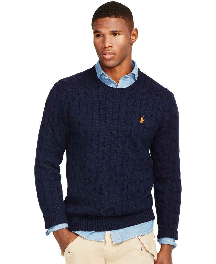 34839131 Polo Ralph Lauren Cable-Knit Crewneck Sweater | Sweater-o-rama in ...